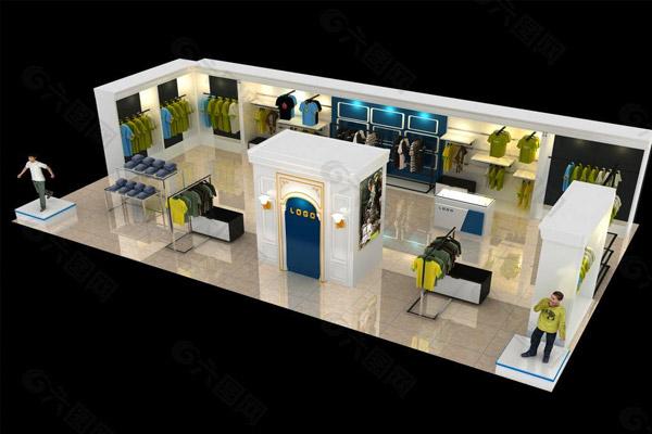 服装展示柜4